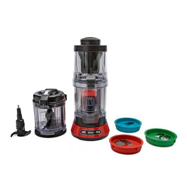 NN310_EGB-RB Ninja 400W 4 Cup Precision Chopping Food Processor Bowl with Auto-Spiralizer