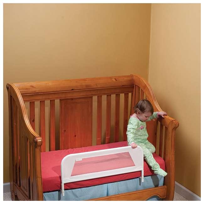 BR103 KidCo Convertible Mesh & Steel Telescopic Crib Bed Rail Guard, White (Open Box) 2
