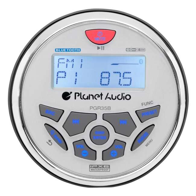 PGR35B Planet Audio 3.5-Inch Marine MP3/Radio Bluetooth Receiver 1