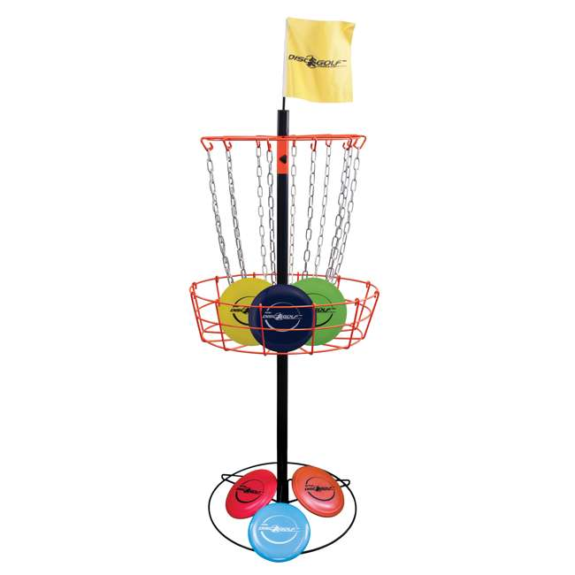 PS-DGS-II Park & Sun Sports Disc Golf Steel Basket w/ 6 Throwing Discs 1