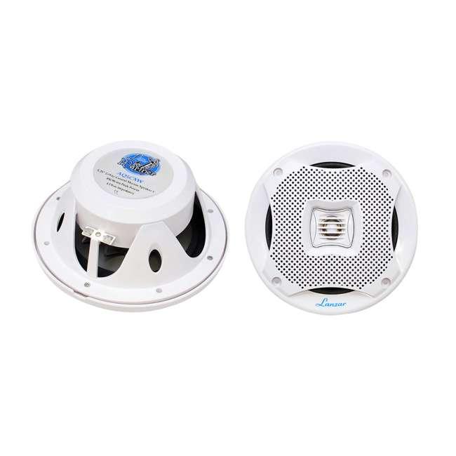 AQ5CXW Lanzar AQ5CXW 5.25-Inch 400 Watt Marine Speakers (Pair)