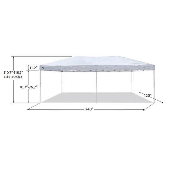 ZS2010EVRWH-U-A Z-Shade 20x10 Ft Instant Canopy Outdoor Patio Shelter, White (Open Box) (2 Pack) 2