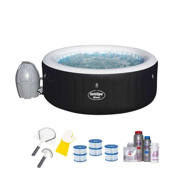 54124E-BW + 3 x 90352E-BW + 58421-BW + 45521A Bestway SaluSpa Inflatable Hot Tub & Accessory Kit