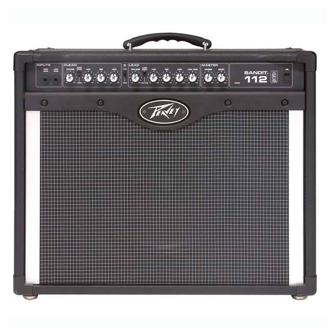 BANDIT-112 + LED-FOOTSWITCH + PV-10IC Peavey Bandit 112 12-Inch TransTube Amplifier + Footswitch + 10' DMX Cable 1