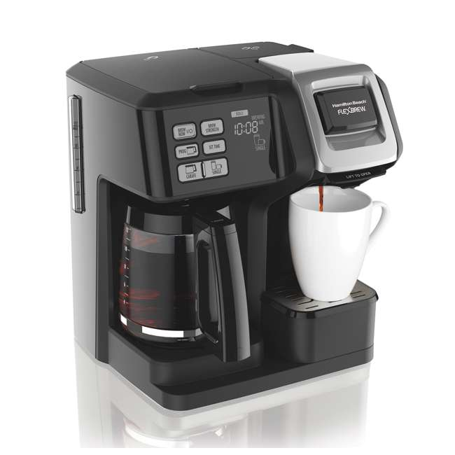 49976 + 80675R Hamilton FlexBrew Programmable Coffee Maker & Permanent Coffee Filter 1