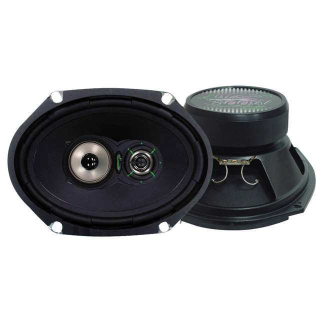 VX683 Lanzar VX683 6x8-Inch 260W 3-Way Speakers (Pair)