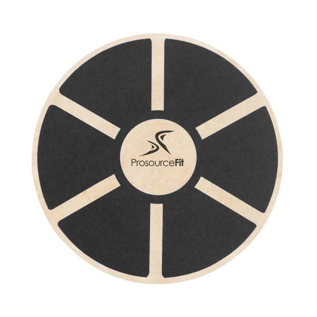 ps-1085-wbb-black Prosource Fit 1085 Round Wooden Gym Exercise Fitness Balance Wobble Board, Black 1