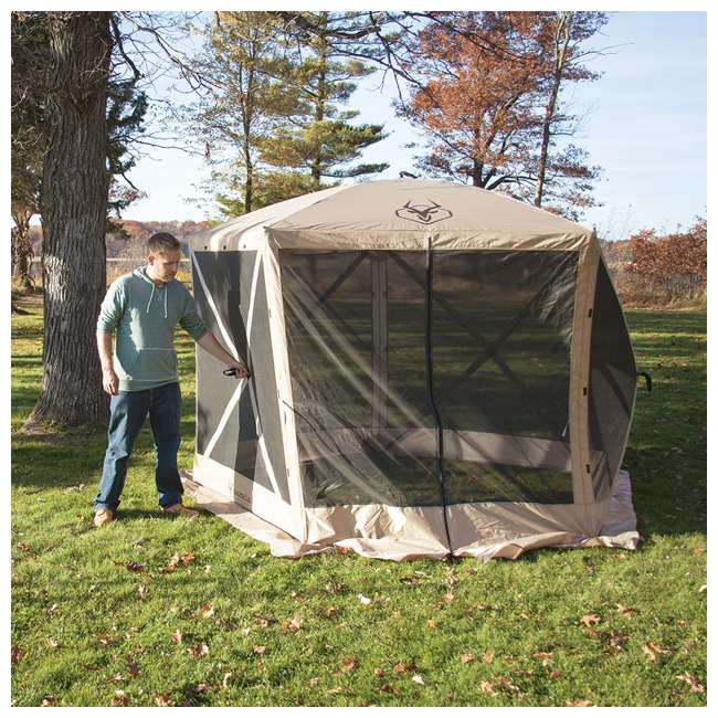 "GAZL-25500-U-A Gazelle  G5 4 Person 5 Sided 115"" x 106"" Canopy Screen Tent  (Open Box) (2 Pack) 4"