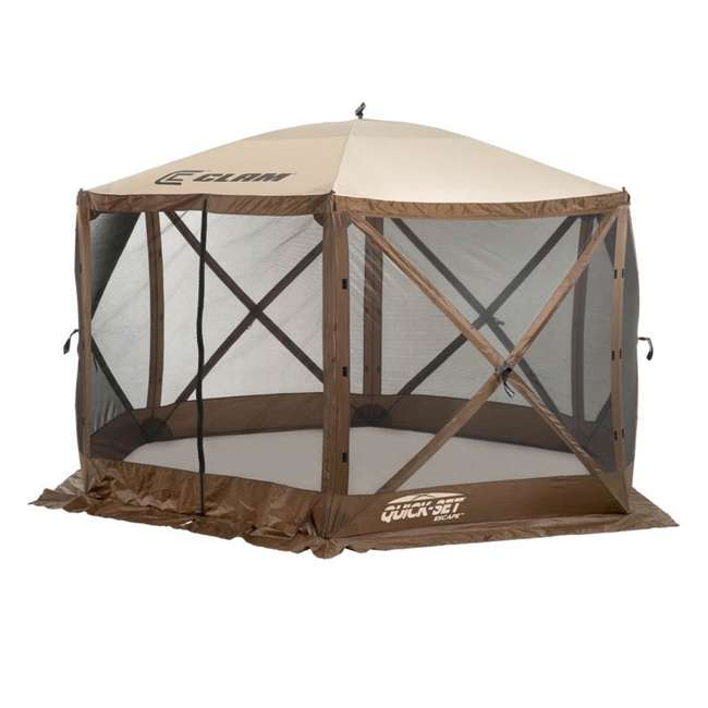 CLAM-ES-9879-U-C Quick-Set Escape Pop Up Camping Gazebo Canopy Screen Shelter, Brown (For Parts) 1
