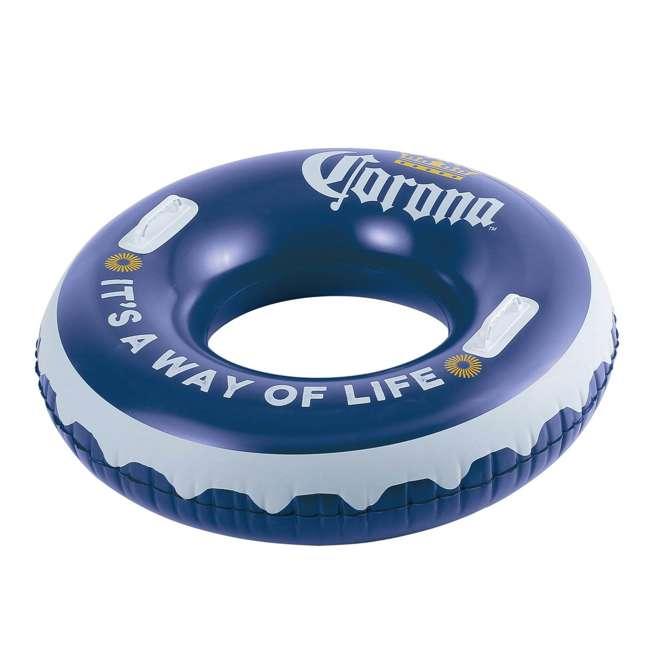 """P4A024521167 + 4 x K10423D00167 + KF0226B00167 Summer Waves 24' x 52"""" Pool Set + Corona Pool Floats (4 Pack) + Floating Cooler 10"""