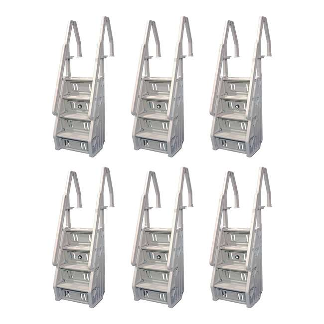 """6 x IN32-T Vinyl Works 32"""" In-Step Ladder for Pools 46-60 Inches Tall, Tan (6 Pack)"""