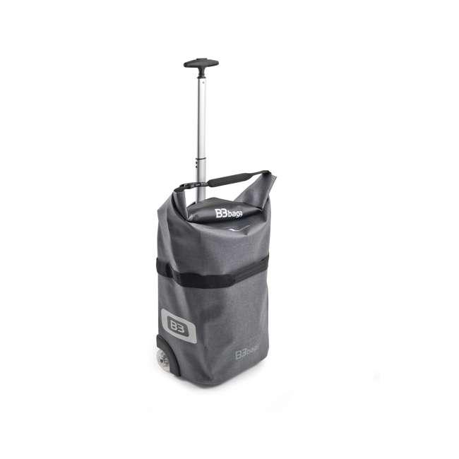 96400/grey B&W International B3 Luggage Bicycle Bag w/ Wheels and Telescoping Handle, Grey 1