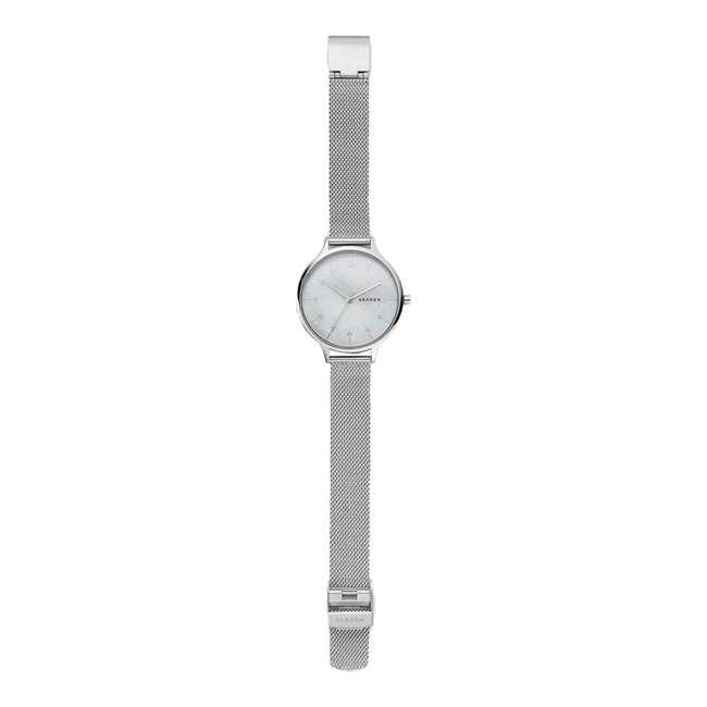 SKW2701 Skagen Anita 36mm Steel-Mesh Mother of Pearl Womens Wrist Watch 1