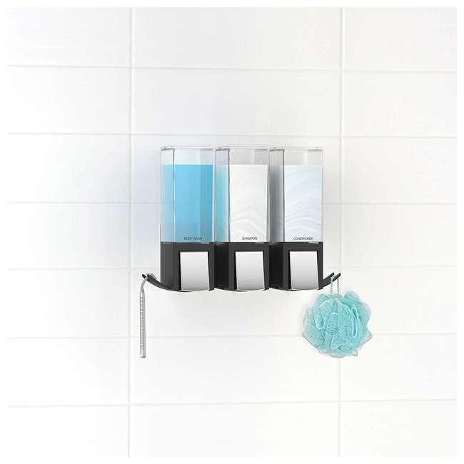 77384 Better Living CLEVER Luxury Shower/Bath Liquid Wall Dispenser, Black/Chrome 3