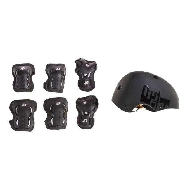 06320200001-M + 067H0310800-L Rollerblade USA Protective Skate Gear + Skate Helmet