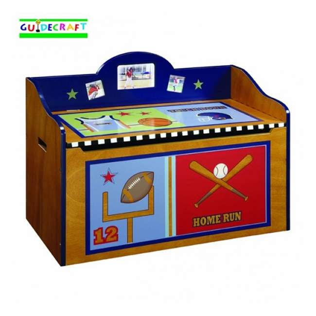 G85604 Guidecraft Playoffs Wood Toy Box