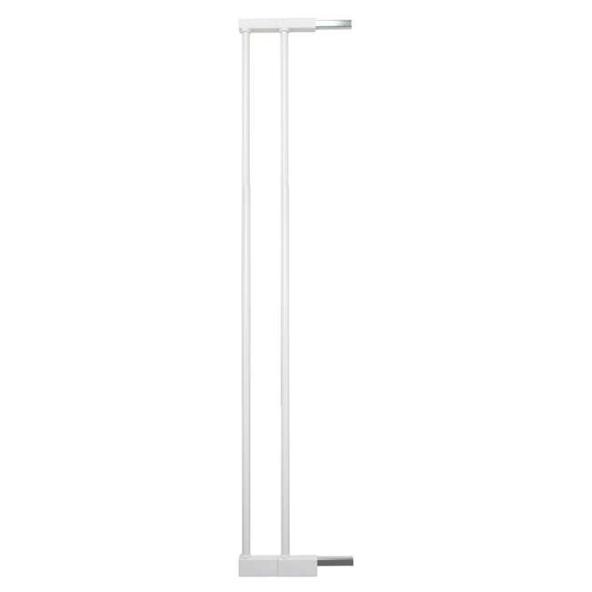 BBD-50914-2490 + BBD-5834-2400 BabyDan Scandinavian 31 Inch Pet Safety Gate & 2-Pack Gate Extensions, White 4