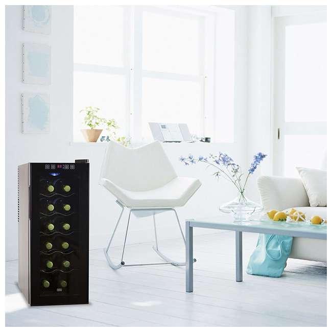 BWT12TB-U-A Black + Decker Thermoelectric 12-Bottle Wine Cellar, Black (Open Box) 1