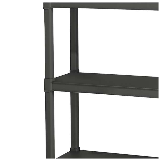 12 x 01643V01 Sterilite 4-Shelf Gray Shelving Unit, Flat Gray (12 Pack) 2