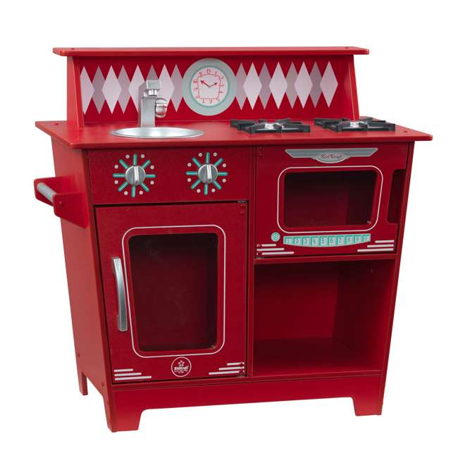 KDK-53362 KidKraft Classic Pretend Play Kitchenette Set, Red