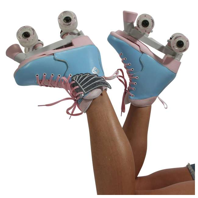 168260 Circle Society Classic Cotton Candy Kids Skates, Girls Sizes 12 to 3 8