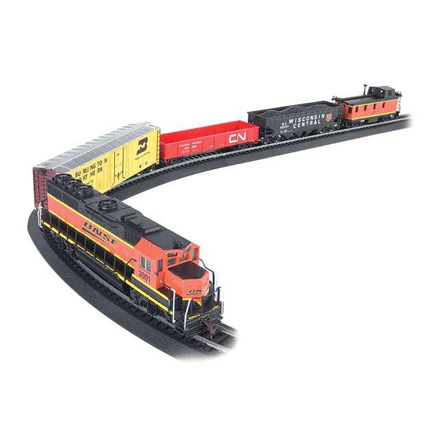 BT-00957 + BT-00706 Bachmann HO Scale Battery Power Rail Champ & Electric Rail Chief BNSF Freight Train Sets 2
