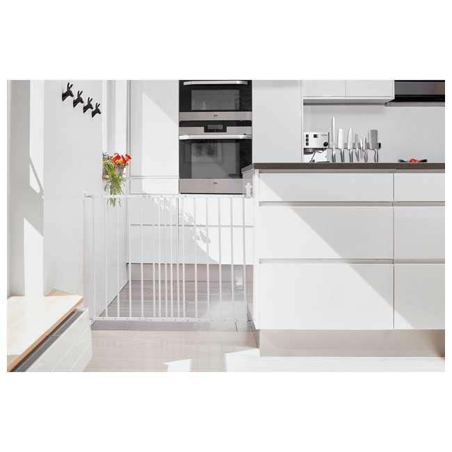 BBD-57314-5400 BabyDan MultiDan Wall Mount 24.6-42 Inch Doorway Safety Baby Gate, White Metal 1