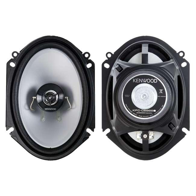 "KFC-C6866S-U-B Kenwood 6x8"" 250W 2-Way Car Audio Flush Mount Coaxial Speakers, Pair (Used) 3"