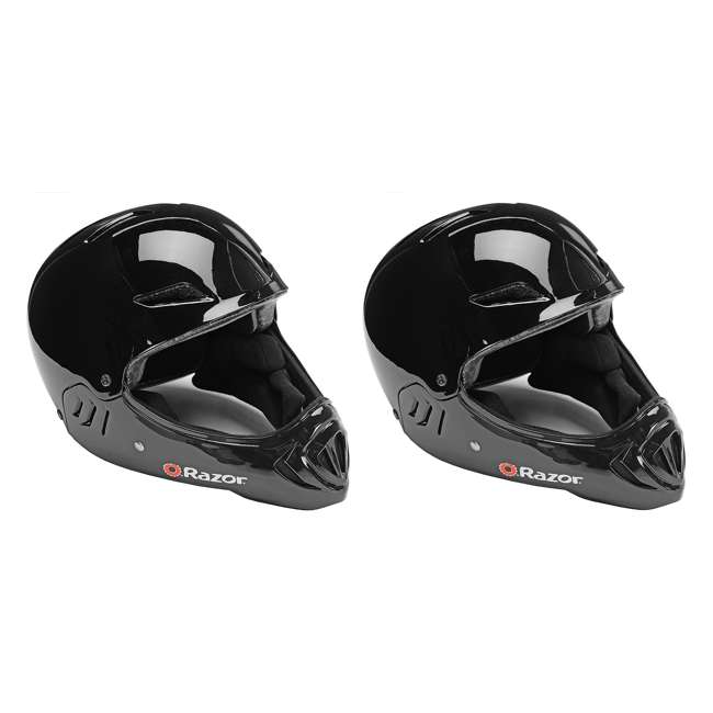 97878 Razor Full Face Child Helmet, Gloss Black (2 Pack)