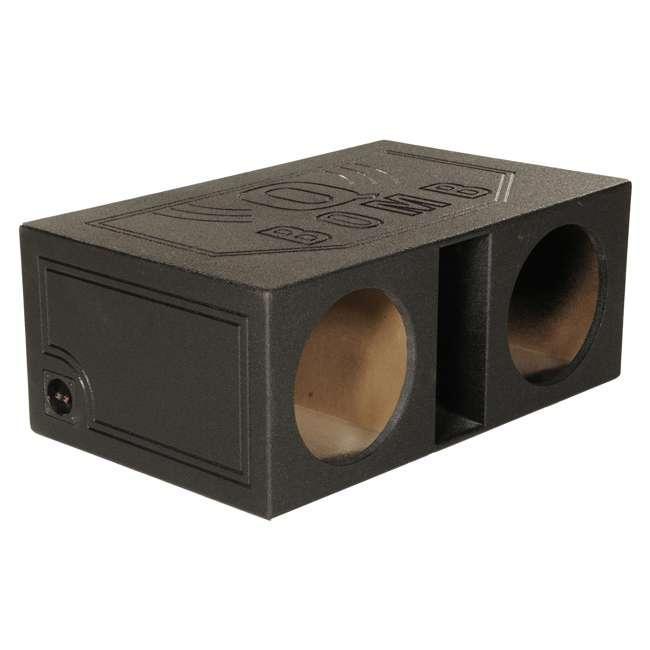 """QBOMB12VL Q-POWER QBOMB12V 12"""" Dual Vented Car Audio Subwoofer Enclosure"""