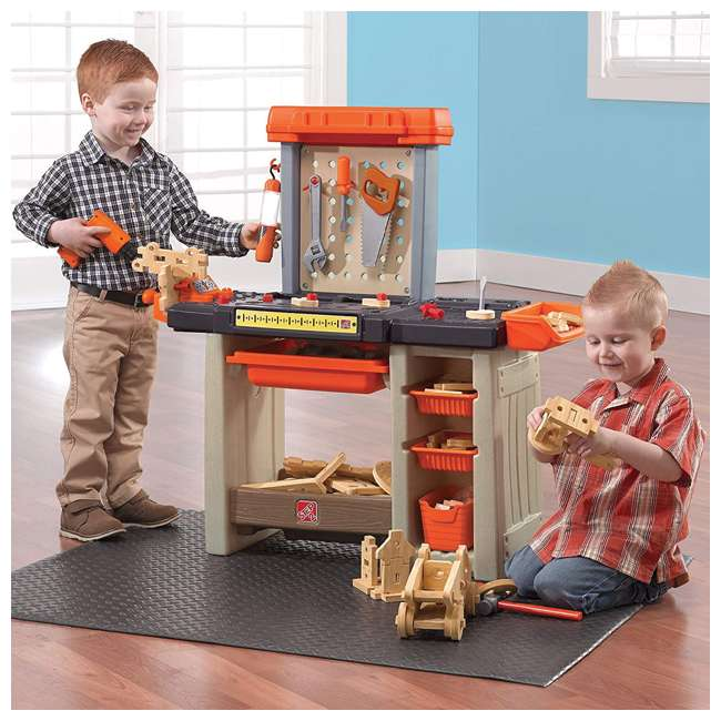 489499 Step2 Pretend Play Handyman Workbench, Orange 2
