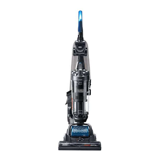 BDPSC103 Black and Decker BDPSC103 POWERSWIVEL Lightweight Bagless Upright Vacuum, Blue