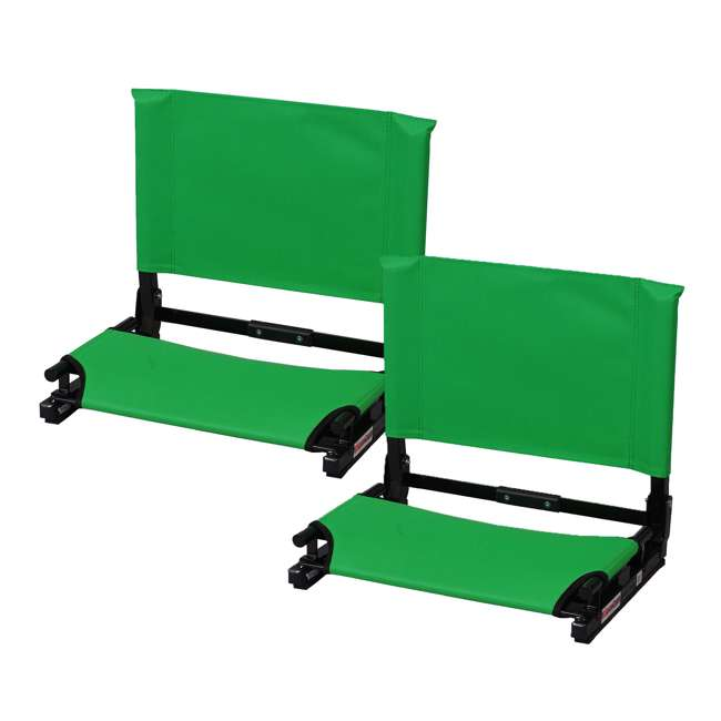 SC2-KELLY Stadium Chair Game Changer Bleacher Seat, Kelly Green (2 Pack)