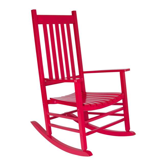 SHN-4332CP Shine Company Vermont Hardwood Outdoor Porch Patio Rocker Chair, Chili Pepper 4