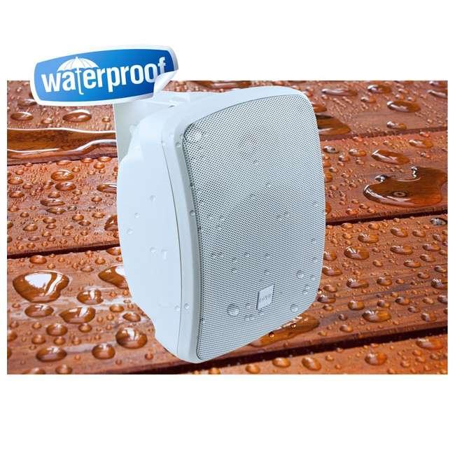PDWR54BTW Pyle PDWR54BTW Bluetooth 600W Waterproof 5.25-Inch Powered Outdoor Speakers (Pair) 4
