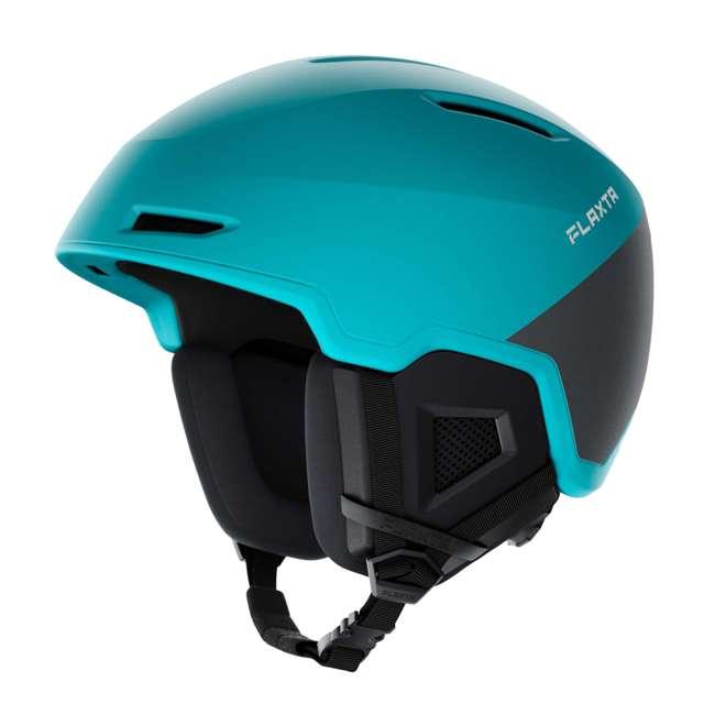 FX901103172SM Flaxta Exalted Protective Ski and Snowboard Full Helmet Small/Medium Size, Aqua