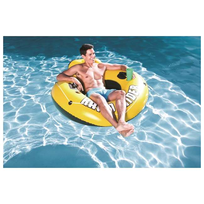 "3 x 43116E Bestway Rapid Rider I 53"" Inflatable Floating Pool Raft Tube (Open Box) (3 Pack) 1"