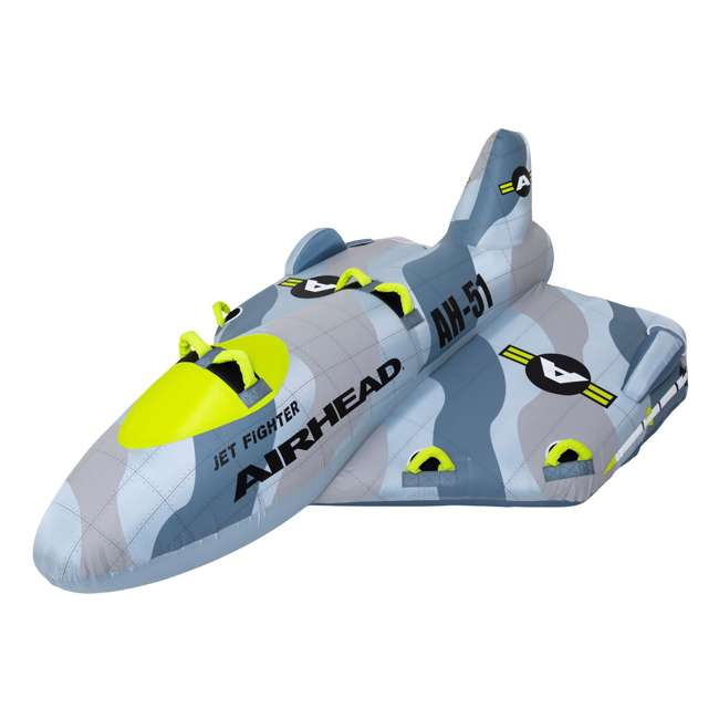 AHFJ-14 Airhead Jet Fighter Airplane 4 Person Inflatable Boat Towable Water Tube Raft