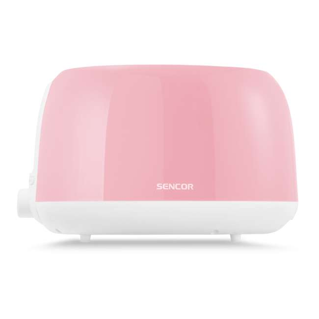 STS34RD-NAA1 Sencor STS34RD Electric Toaster with Electronic Timer and Crumb Tray, Pastel Red 1