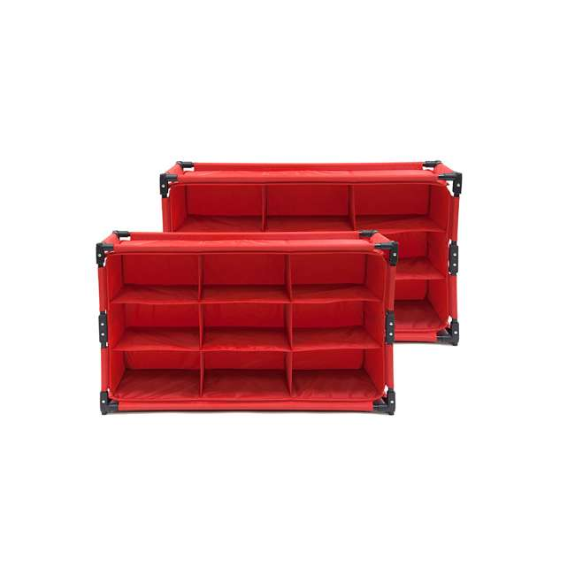 4 x RSF-TP-RB Origami 9-Cube Storage Organizer Shelf, Red (8 Pack) 1