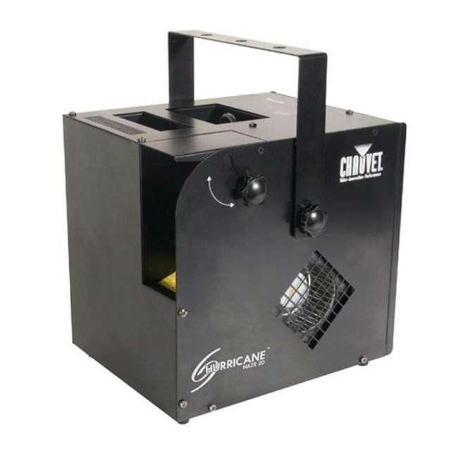 HURRICANE-HAZE2D+FJU+ MINISTROBE-LED + BLACK-24BLB CHAUVET Fog Machine w/ Mini Strobe Light Effect, Black Light & Fog Fluid 1
