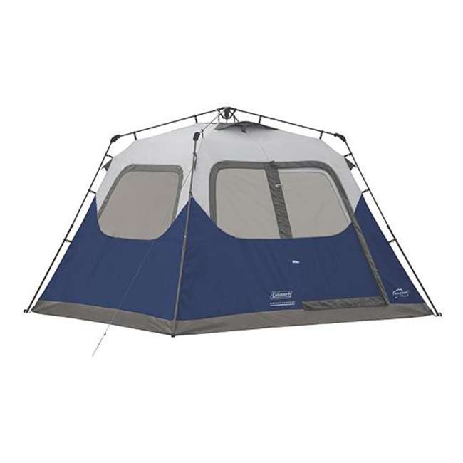 2000024350 Coleman 6-Person Instant Cabin Family Camping Tent With Rainfly