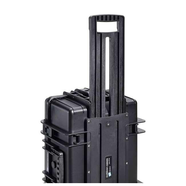 6700/B/SI + CS/3000 B&W 42.8L Plastic Waterproof Case w/ Wheels, Foam Insert & Shoulder Strap, Black 3