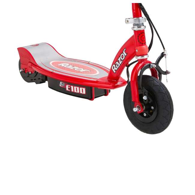 13111260 + 13111261 Razor E100 Kids 24 Volt Electric Powered Ride On Scooter, Red & Pink (2 Pack) 7