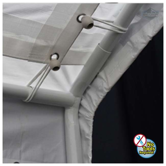 C81220PC King Canopy 12 x 20 Foot Universal Drawstring Canopy 4