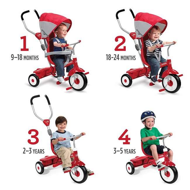 809A Radio Flyer Sport 4 in 1 All Terrain Kids Stroll 'N Trike Ride On Tricycle, Gray 1