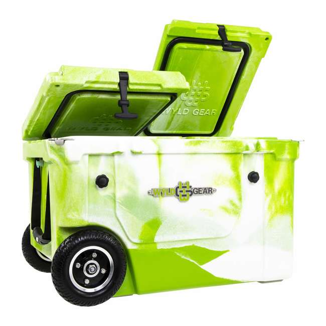 HC50-17GW WYLD HC50-17GW 50 Qt. Dual Compartment Insulated Cooler w/ Wheels, Green/White