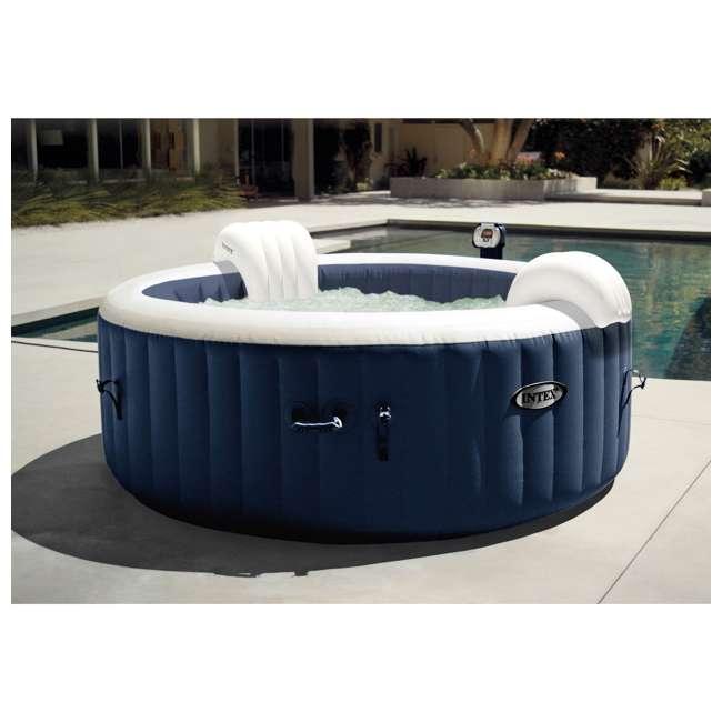 28405E + 28004E + QLC-14890 Intex Pure Spa 4-Person Home Inflatable Hot Tub, Accessory Kit, & Chemical Kit 3