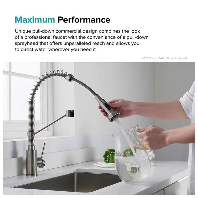 4 x KPF-1610MB Kraus Bolden 18-Inch Single Handle Faucet (4 Pack) 7