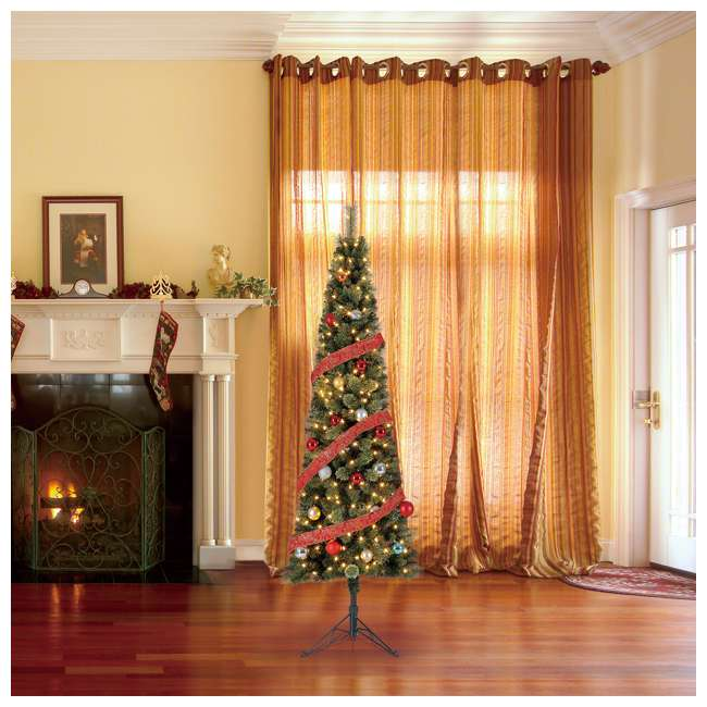TV70M3AVBL00 Home Heritage Cashmere 7 Foot Artificial Corner Christmas Tree with LED Lights 3